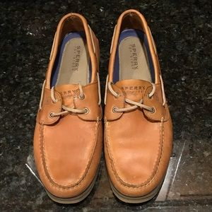 Gently Loved Sperry Leather Topsiders